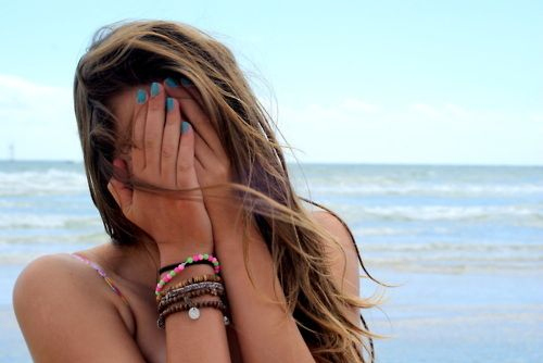 bich, blonde, blue, blue nails, girl, jorika, nails, sea