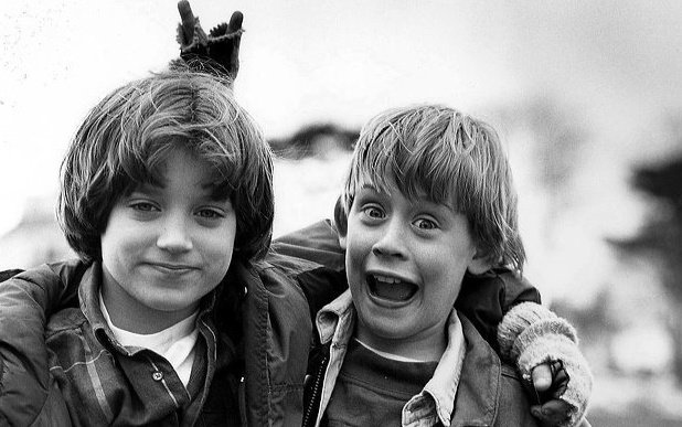 black and white, boy, children, elijah wood, happiness