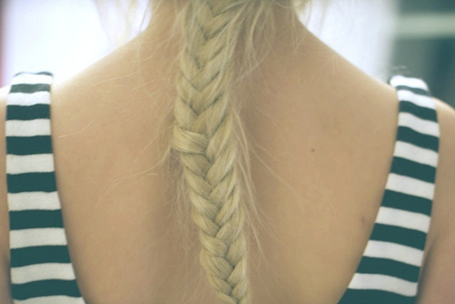 blonde, braid, braids, fashion, fish