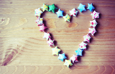 blue, cute, heart, star, wood