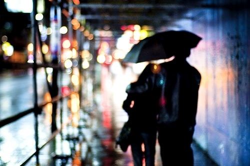 bokeh, boy, couple, girl, love, umbrella, unbrella