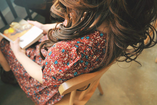 book, brunette, girl, photography, read, vintage, vintage dress