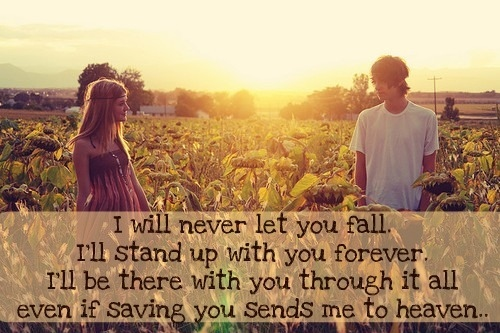 boy and girl, couple, cute, death, die, fall, forever, guardian angel, heaven, life, love, lyrics, music, quote, song, stand, the red jumpsuit apparatus, true, you, your guardian angel