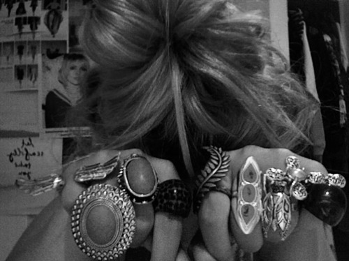 cool ring, girl, hair, pretty, ring