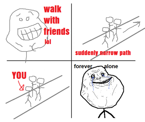 fail, forever alone, funny, lonely, lonley