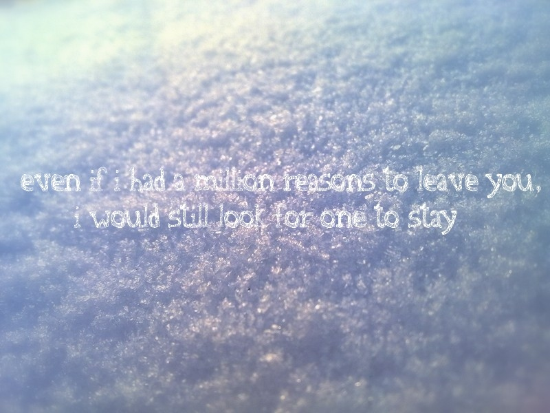 leave you , love you, reason, snow, stay