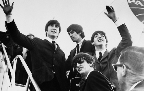 america, beatles, george, goodbye, john lennon, paul, paul mccartney, ringo