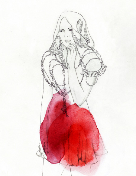 art, drawing, editorial, fashion, girl, illustration, painting, pencil, print, sketch, watercolour