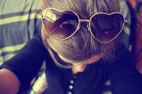 beautiful, blue, cute, fashion, girl, glasses, hair, heart, love, photo, photography, pretty, separate with comma, vintage