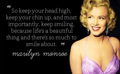 beautiful life marilyn monroe quote smile