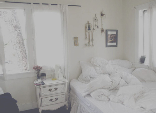 bed, bedroom, room, white