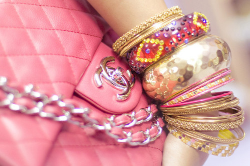 bracelet, chanel, channel, fashion, jewelry, pink