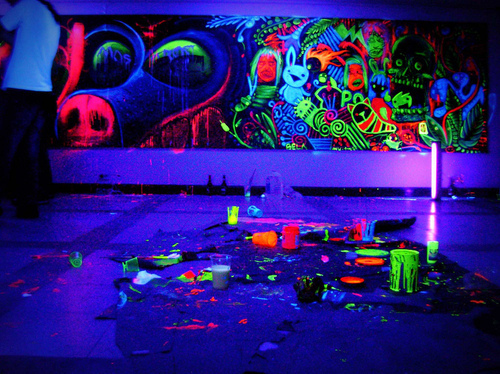 colors, light, neon, wall