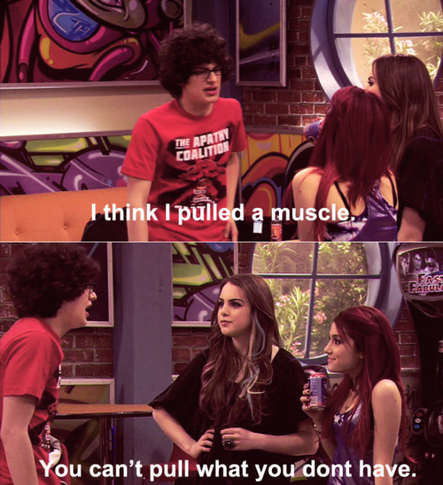 elizabeth gillies, jade west, liz gillies, lmao, lol
