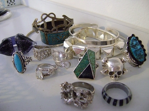 fashion, ring, rings, silver, skull