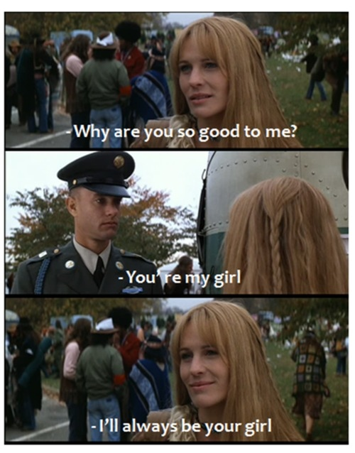 forrest gump, love, movies, robin wright, sweet, tom hanks
