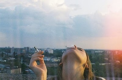 amazing, blue, brunette, cigarette, city