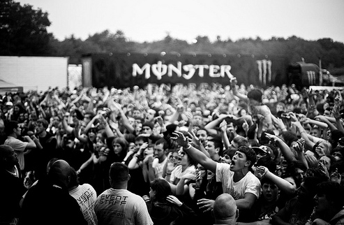 audience, awsome, band, concert, crazy, crowd, energy drink, monster, music, stage, warped tour