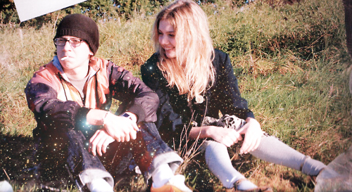 autumn, cassie, cigarette, couple, grass