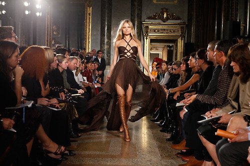 blonde, catwalk, confident, dress, fashion, fierce, madamelulu, magdalena frackowiak, model, runway
