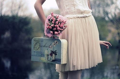 blue, cute, fashion, floral, flowers, girl, outfit, photography, pink, pretty, vintage