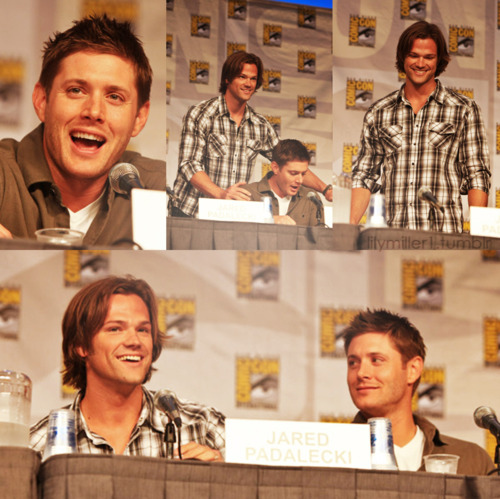 jensen ackles and jared padalecki at comic con