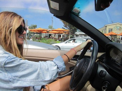 cute, driving, freedom, girl, hair, pretty