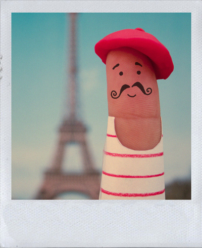 cute, eiffel tower, finger, moustache, paris
