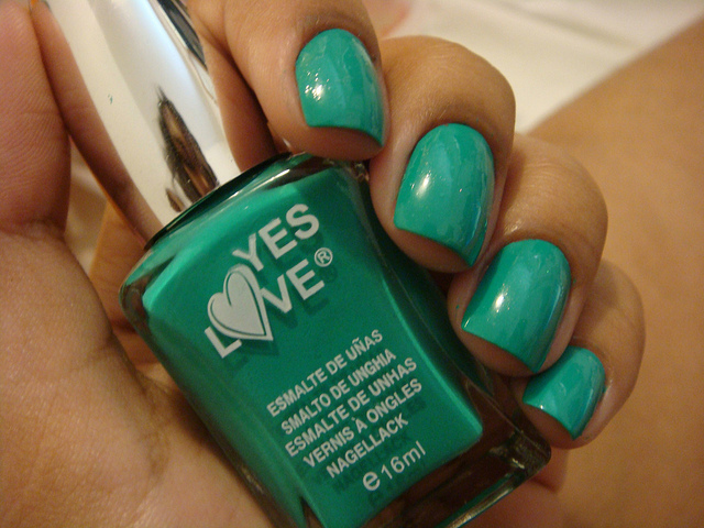 dechino, esmalte, green, nails, verde