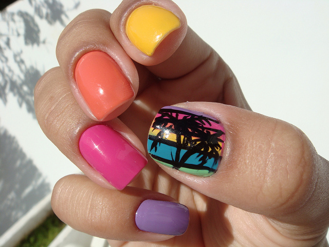 esmalte, huge thumb, nail art, nails