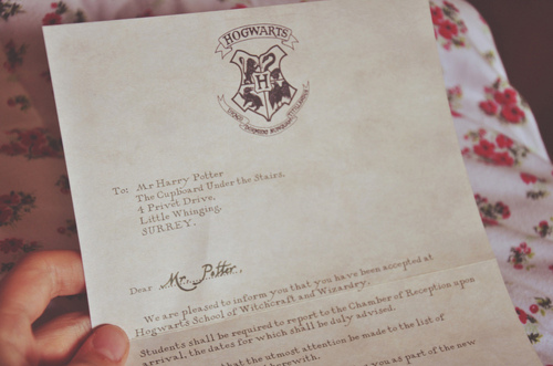 harry, harry potter, hogwarts, letter, magic