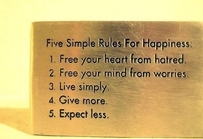 5 simple rules, amazing, gold, happiness, life changing