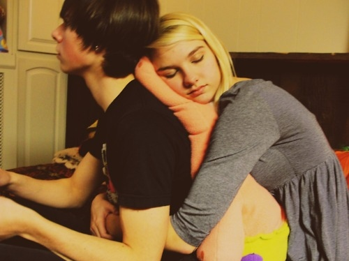 adams apple, adamsapple, boy, couple, cute, girl, hair, hug, love, skinny, skinny boy, sleep, thin