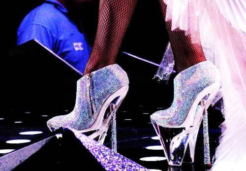 alexander mcqueen, armani, armani not mcqueen, armani shoes, beautiful, glass, glitter, heel, lady gaga, pretty, shine, white
