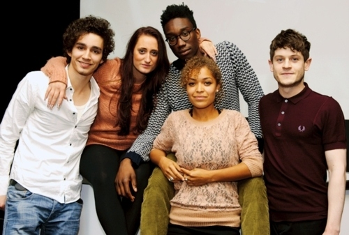 alisha, antonina thomas, curtis, iwan rheon, kelly, lauren socha, nathan, nathan stewart-jarett, robert sheehan, sim, simon, the misfits
