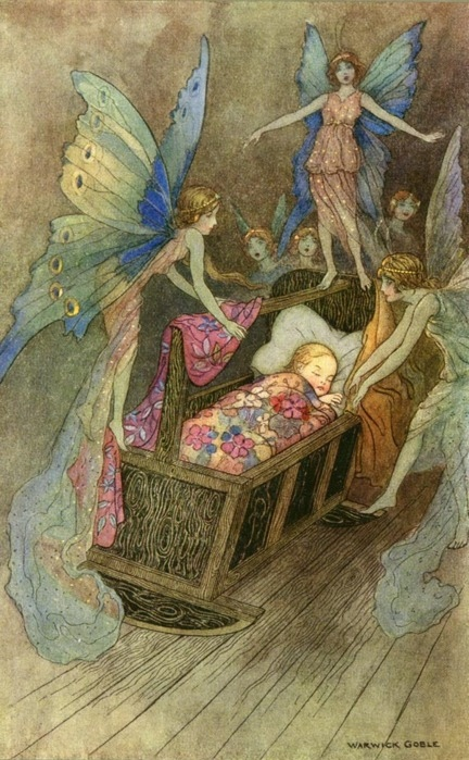 antique, art, baby, faeries, fairies
