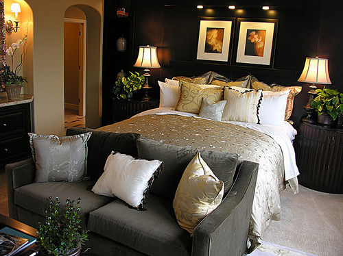 bed, bedroom, couch, cushions, interior