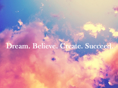 believe create dream pink quote image 146015 on