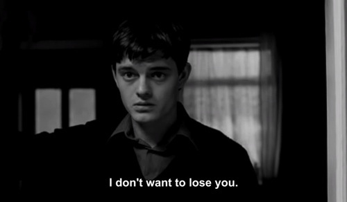 black and white, boy, control, cute, ian curtis, sam riley, subtitle, text, you