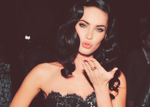 black hair, blue eyes, girl, megan fox, pretty