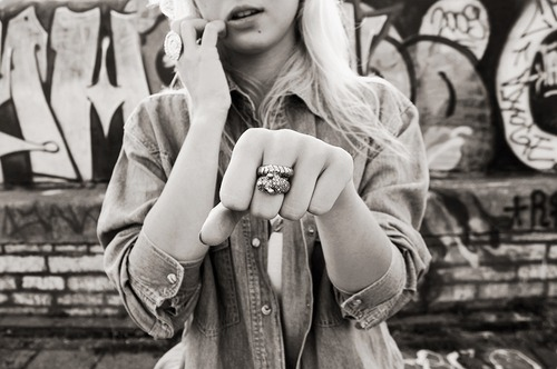 button up, fashion, girl, graffiti, pretty, ring, snake, snake ring, style