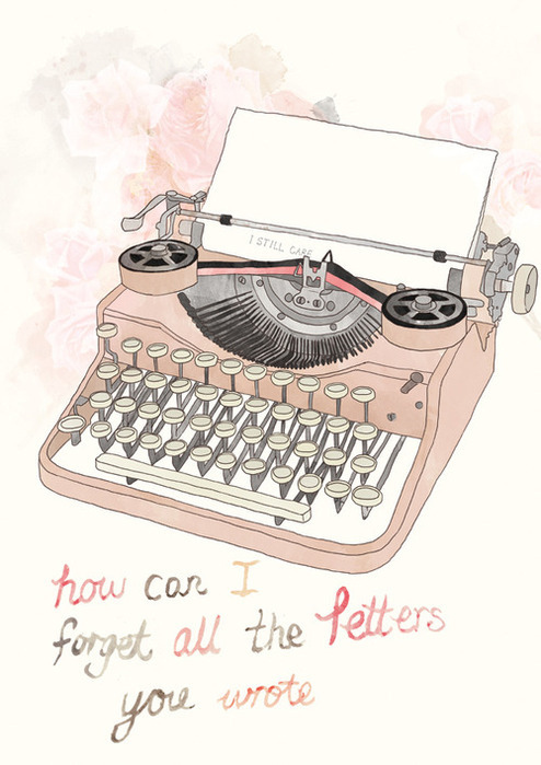 care, drawing, forget, i still care, letters, pink, type, typewriter