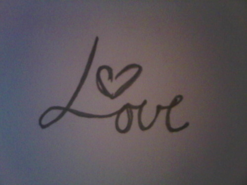 cursive, heart, love, pencil, tattoo