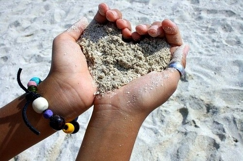 cute, hands, heart, love, photography, sand, summer