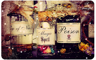 cute, jars, magic, poison, witch