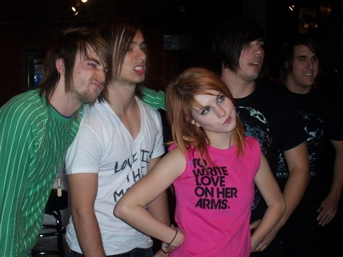 hayley williams, jason, jeremy davis, josh farro, paramore