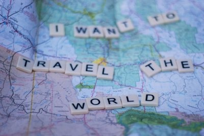 map, scrabble, travel, world