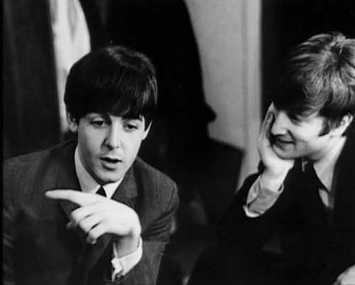 adorable, awww, john lennon, lennon/mccartney, paul mccartney