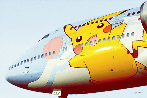 airplane, color, cool, photography, pikachu