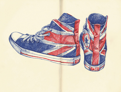 all star, converse, great britain, illustration, shoes
